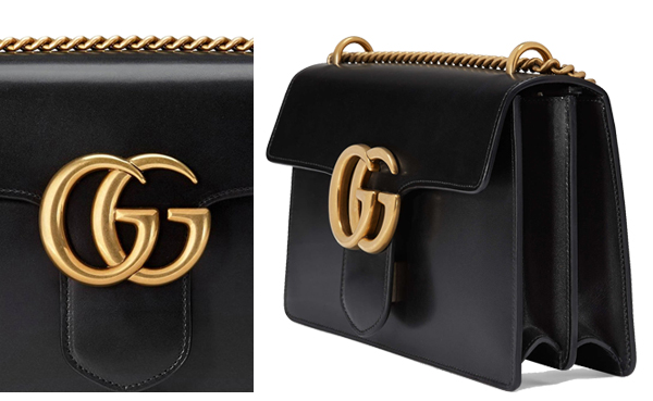 best wholesaler professional sale meticulous dyeing processes Gucci GG Marmont Leather Shoulder Bag 431777